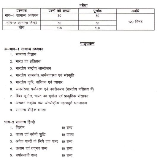 UP Legislative Assembly Exam Pattern of RO ARO posts