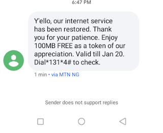 MTN Is Rewarding Customers With 100MB Free, Get Yours Now
