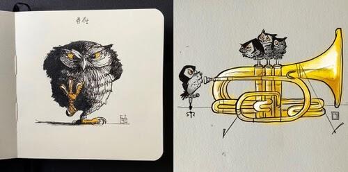 00-Owl-Drawings-Fraugau-www-designstack-co