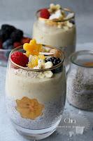 Смути чиа пудинг с горски и екзотични плодове / Chia smoothie pudding