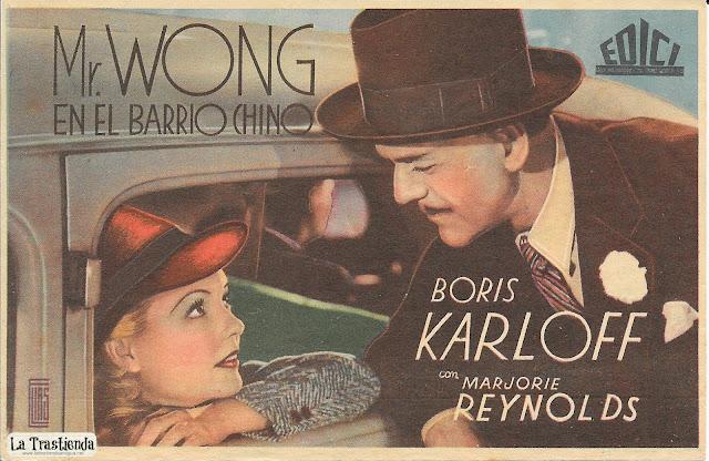 Programa de Cine - Mr.Wong en el Barrio Chino - Boris Karloff - Marjorie Reynolds