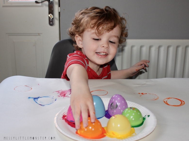 Easter painting for toddlers and preschoolers