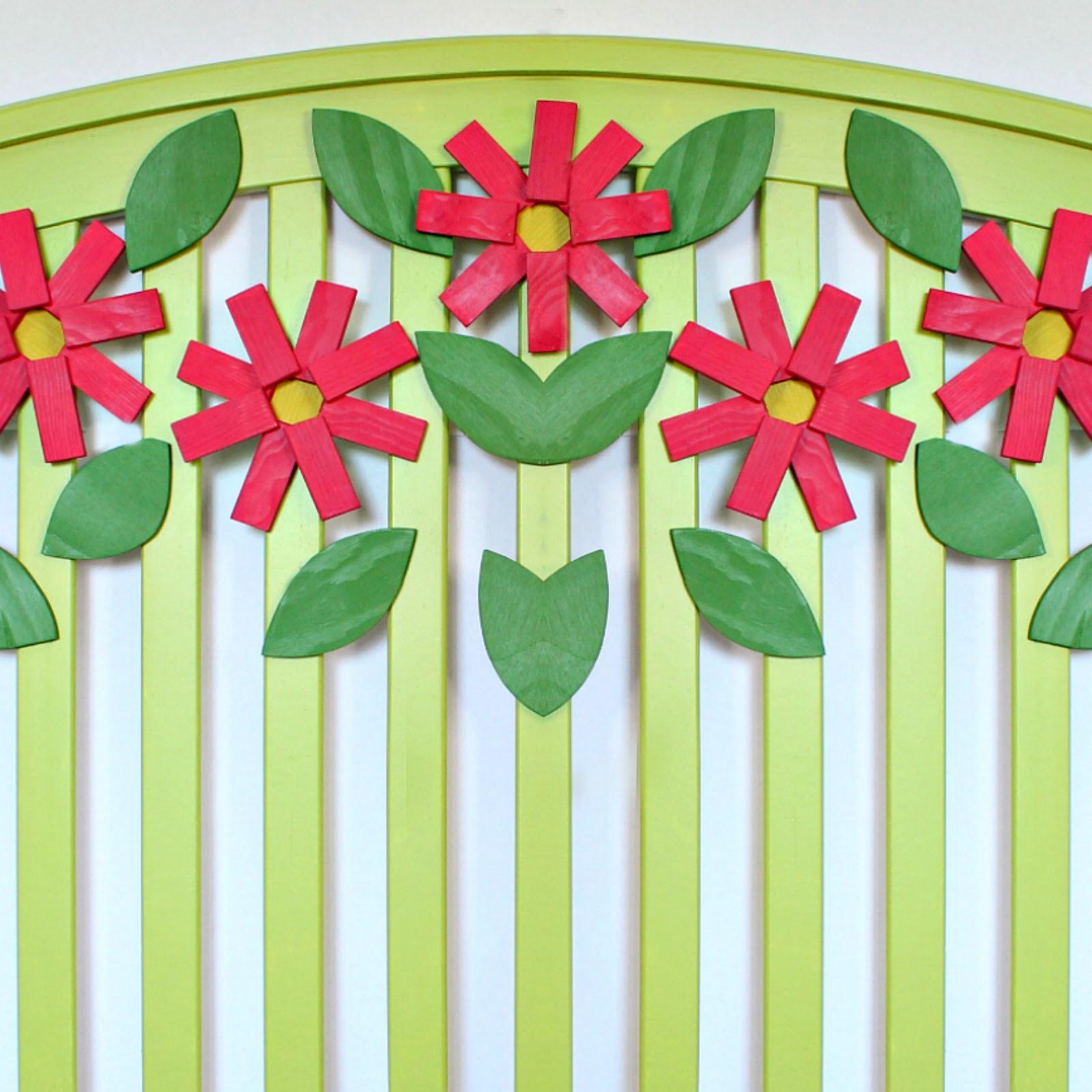 Mark Montano Flower Headboard Makeover