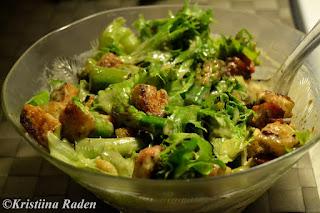 Asparagus cesar salad
