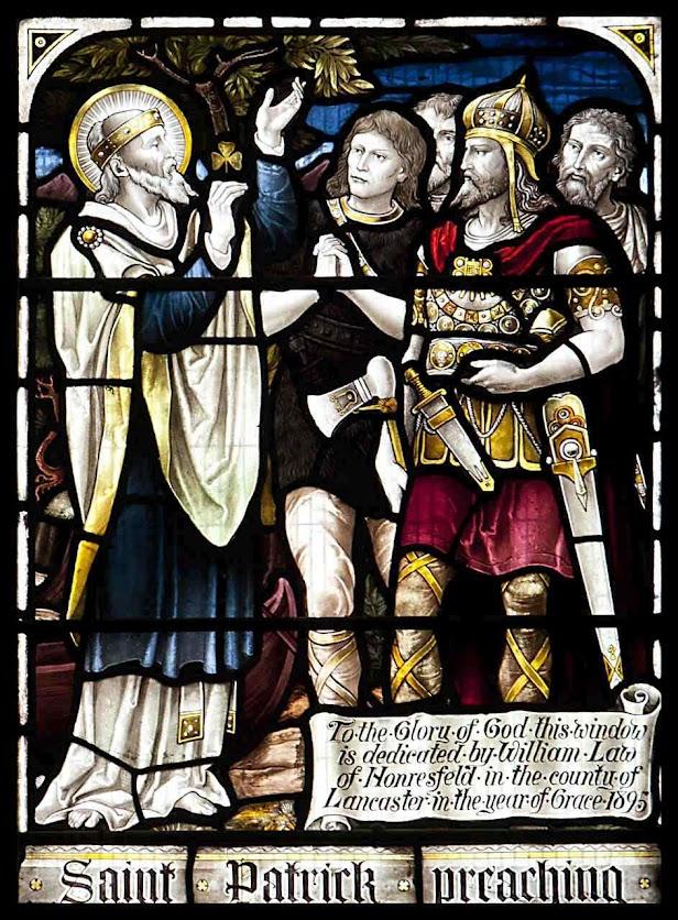 São Patrício enfrenta os inimigos, Holy Trinity church, Stratford-upon-Avon