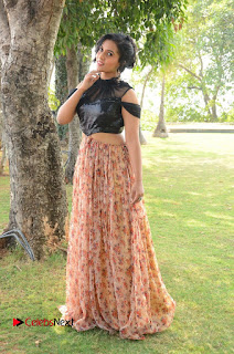Actress Chetana Uttej Stills in Floral Long Skirt at Pichiga Nachav Movie Press Meet  0100.JPG