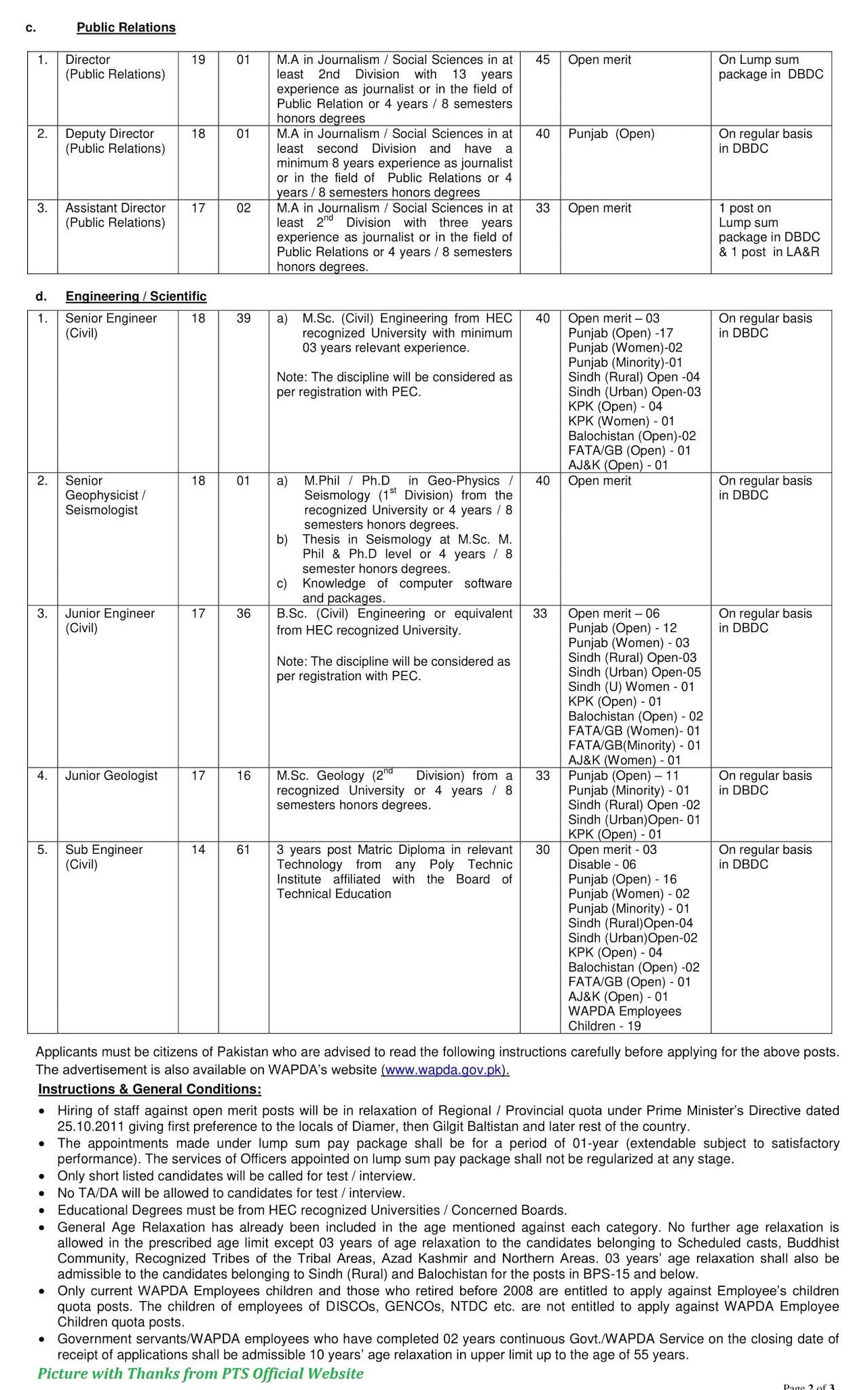 Wapda Jobs 2020 - Latest Jobs in Wapda Diamer Basha Dam & Mega Hydel Project 2020