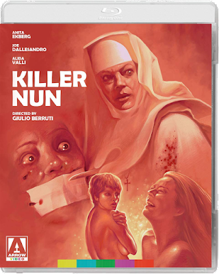 Cover art for Arrow Video's new Blu-ray of KILLER NUN!