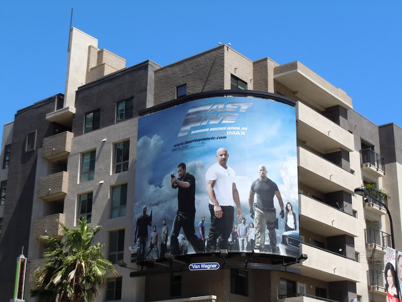 Fast Five billboard Hollywood