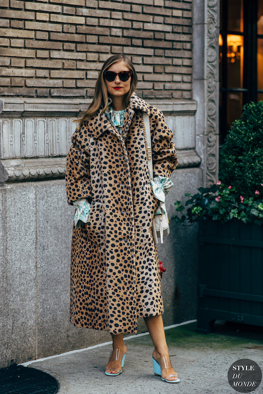 Spotted: Leopard Coats Are Still Very Cool