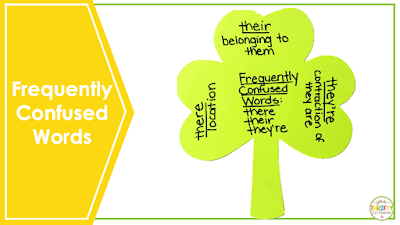 ELA frequently confused words activities for upper elementary