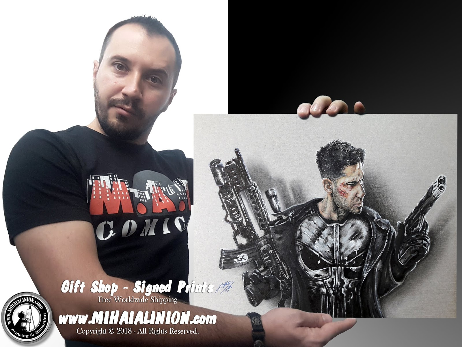 Drawing Punisher, Drawing The Punisher, Drawing Frank Castle, Frank Castiglione, Drawing Jon Bernthal, Punisher The Movie, Netflix Punisher, Marvel`s Punisher, Punisher ComicBook, How to draw The Punisher, Punisher pencil drawing, Stan Lee, Jim Lee, Supervillain, Marvel Heroes, John Romita Sr, Ross Andru, MAI Comics, Mihai Alin Ion, art by mihai alin ion, Drawing Marvel, Marvel versus DC, Marvel Comics, DC Comics, Gerry Conway, how to draw, artselfie, drawing ideas, free drawing lessons, drawing tutorial, art, dessin, disegno, dibujo, drawing Marvel heroes, drawing, illustration, painting, design, realistic 3d art, coloured pencils, www.mihaialinion.com, 2018, pencil drawing, tempera, acrilics paint, marker, gouache painting, mixed media, comics, comic book, caricature, portrait, cum sa desenezi, caricaturi mihai alin ion, caricaturi si portrete  la comanda, eveniment caricaturi, caricaturi la nunta, caricaturi la botez, caricaturi la majorat, desene pe pereti, desene pentru copii, ilustratie carte, benzi desenate, caricaturi, portrete, comanda caricaturi