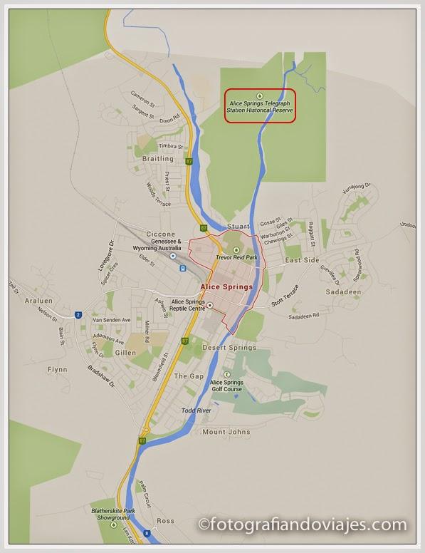 mapa de Alice Springs