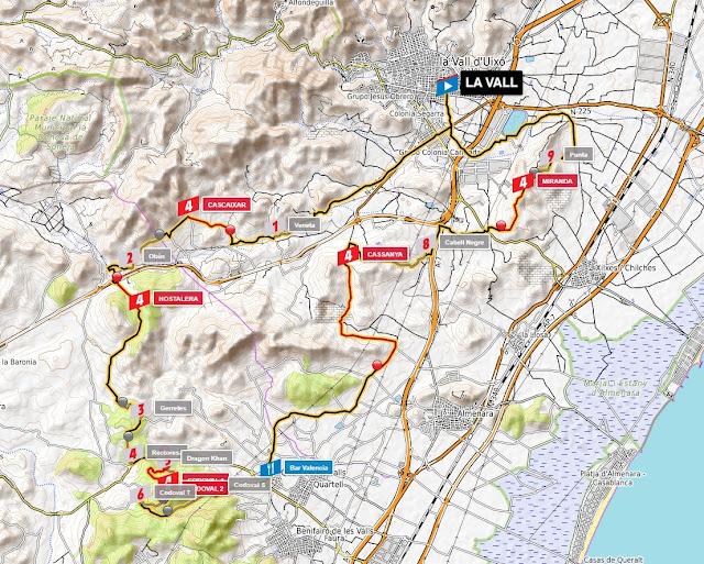 mapa topo etapa la vall-codoval