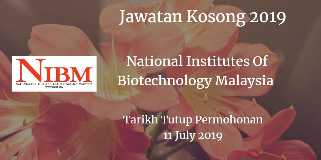 Jawatan Kosong NIBM 11 July 2019