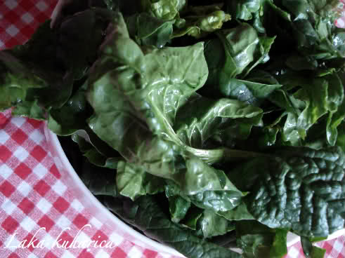 blanche spinach