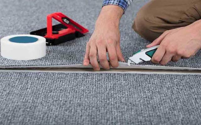 Lantai karpet mudah diterapkan
