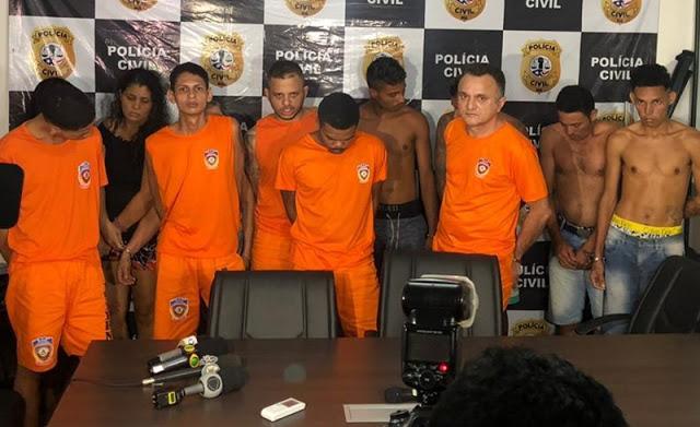 Polícia prende 12 envolvidos em tráfico, roubos, homicídios, ocultação de cadáveres, tortura, ameaças e estupros em São Luís