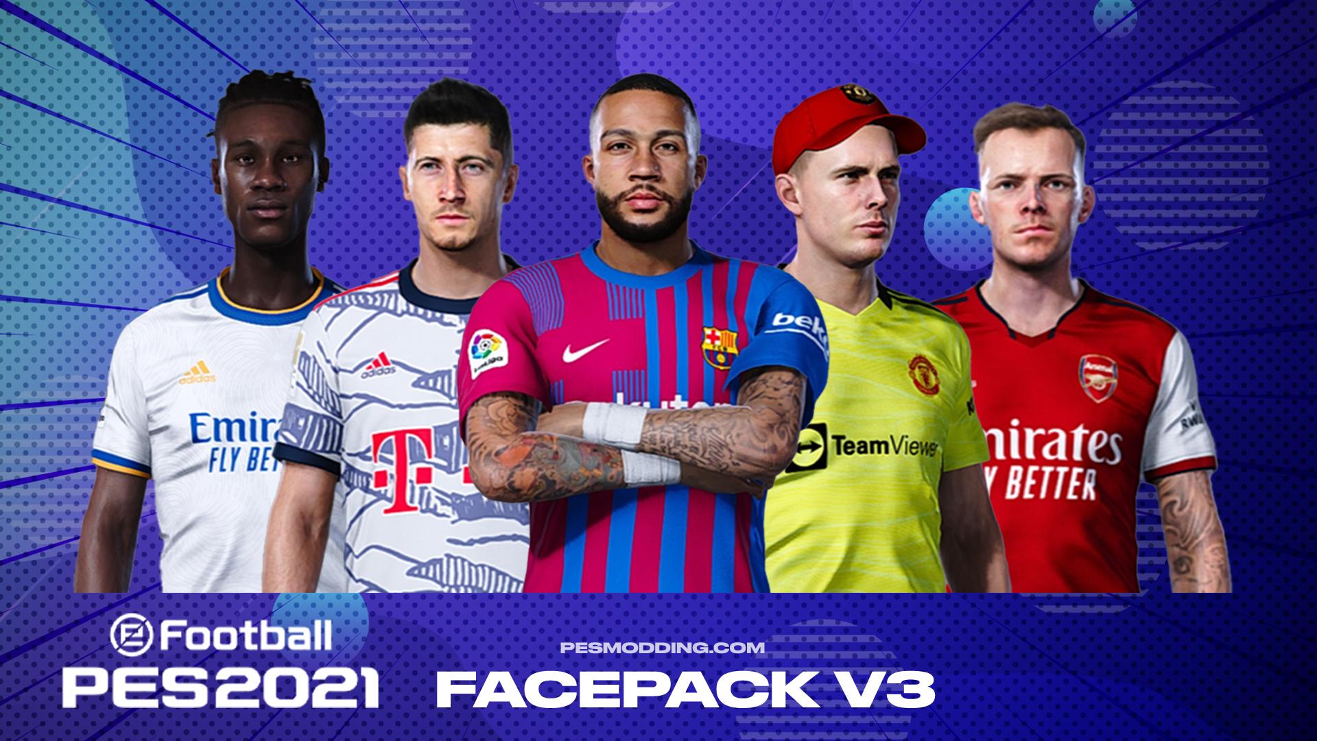 PES 2021 Facepack V3 | Sider And CPK Version