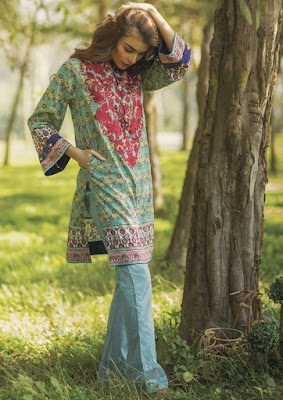 Pakistani digital lawn print suits for girls