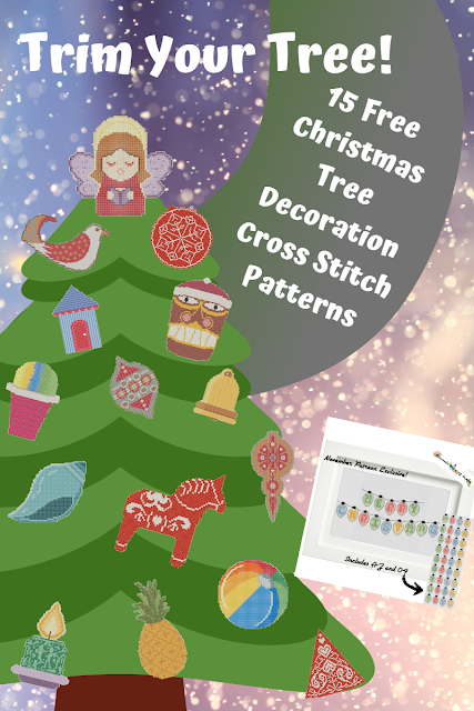 FIFTEEN Cross Stitch Christmas Decorations! Free Cross Stitch Patterns to Download for Christmas.