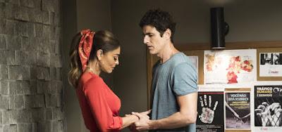 Juliana Paes e Reynaldo Gianecchini em cena da reta final da novela das nove: correria e cenas secretas