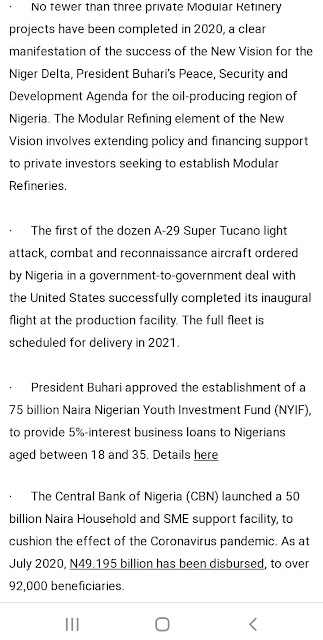 F4C71BCB 66EC 421C 8053 AD30B853961E - Buhari lists CAMA, 774,000 jobs, NYSC allowance, others as second-term achievements [Full list]