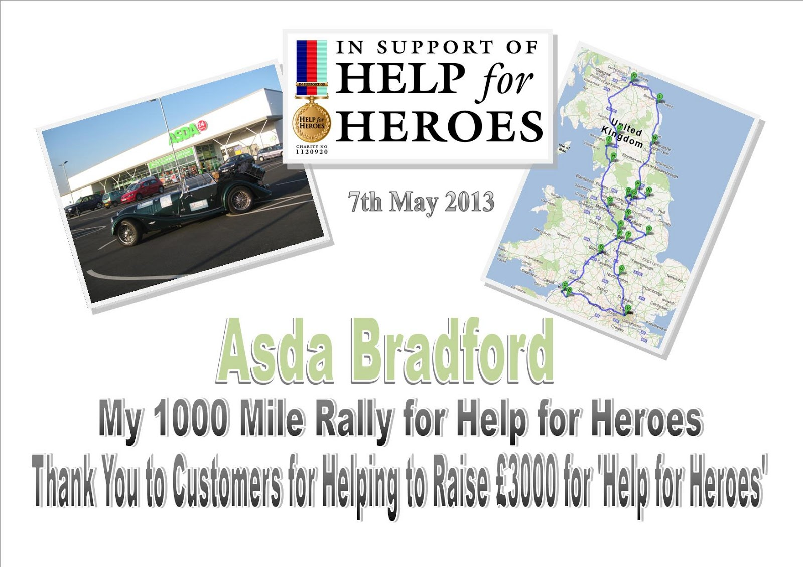 My 1900 Thousand Mile Rally For Help For Heroes My