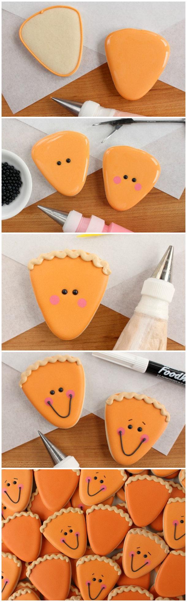 Happy Pumpkin Pie Slice Cookie