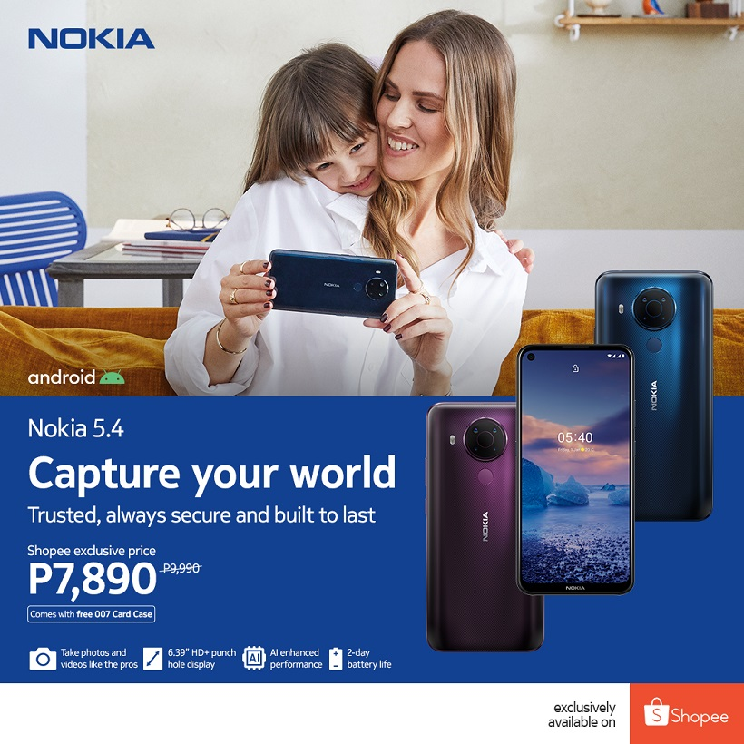 Nokia 5.4 now available with Shopee exclusive price of ₱7,890 instead of ₱9,990