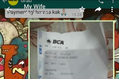 Bukti Transfer & Bukti Chat CS grabtoko.com Dengan Korban - Anjad nNurmansyah di Depok