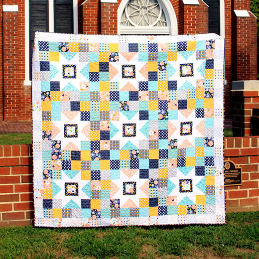 Azure Skies Quilt designed by Bev Mccullough of Flamingo Toes for Riley Blake Designs