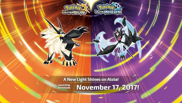 Pokémon Ultra Sun Ultra Moon Solgaleo Lunala Necrozma fused Prism Armor November 17 2017