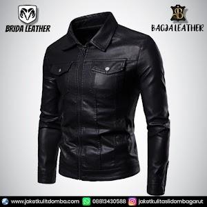 Jual Jaket Kulit Asli Garut Pria Domba Original Brida Leather B54   WA 08813430588
