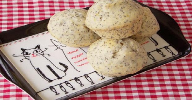 Banana Poppyseed Muffins  Recipe
