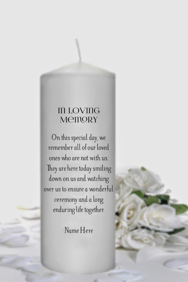 Unity Candle In Loving Memory