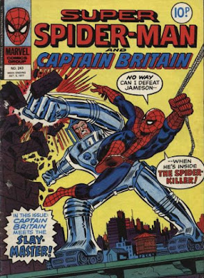 Super Spider-Man and Captain Britain #243, the Spider-Slay is back
