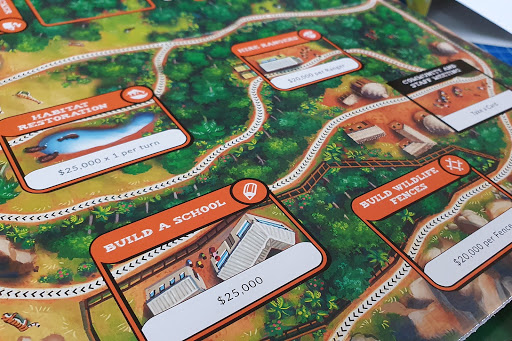 Conservation Crisis game review playing board