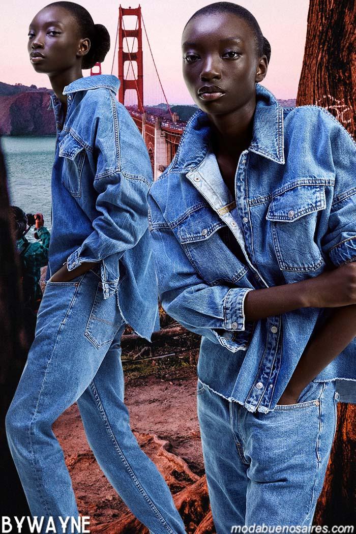 Moda denim primavera verano 2020. Camisas de jeans primavera verano 2020.
