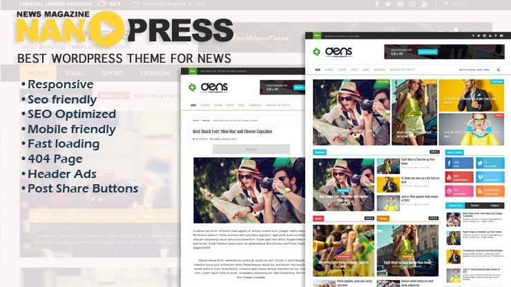 Nanopress Premium Responsive Blogger Template