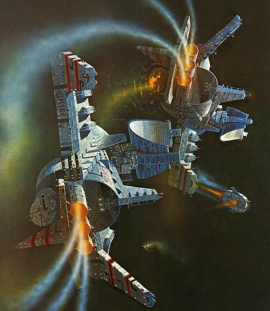 Ilustración de portada de La Guerra Interminable, de Joe Haldeman