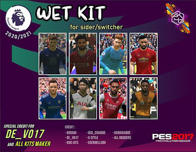 Premier League Wet Kits Season 2020/21