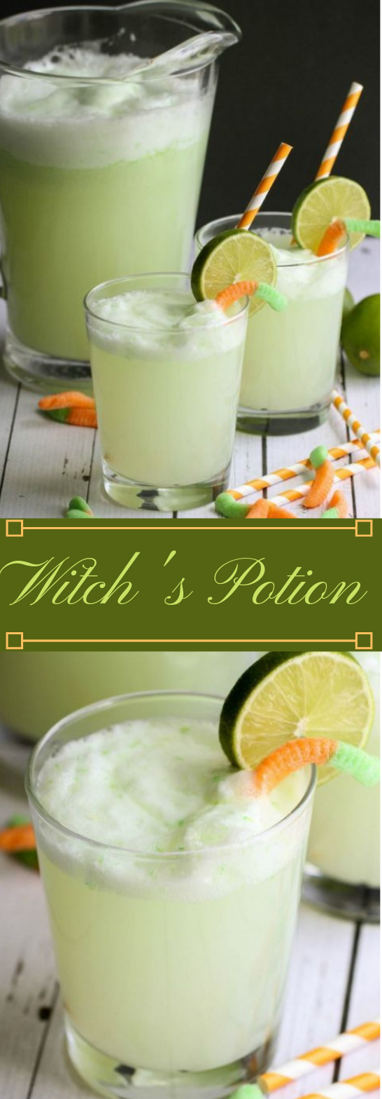 WITCH'S POTION DRINK #drink #healthyrecipes #party #cocktail #sangria