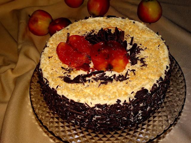 Marmurkowy tort Jabłuszko