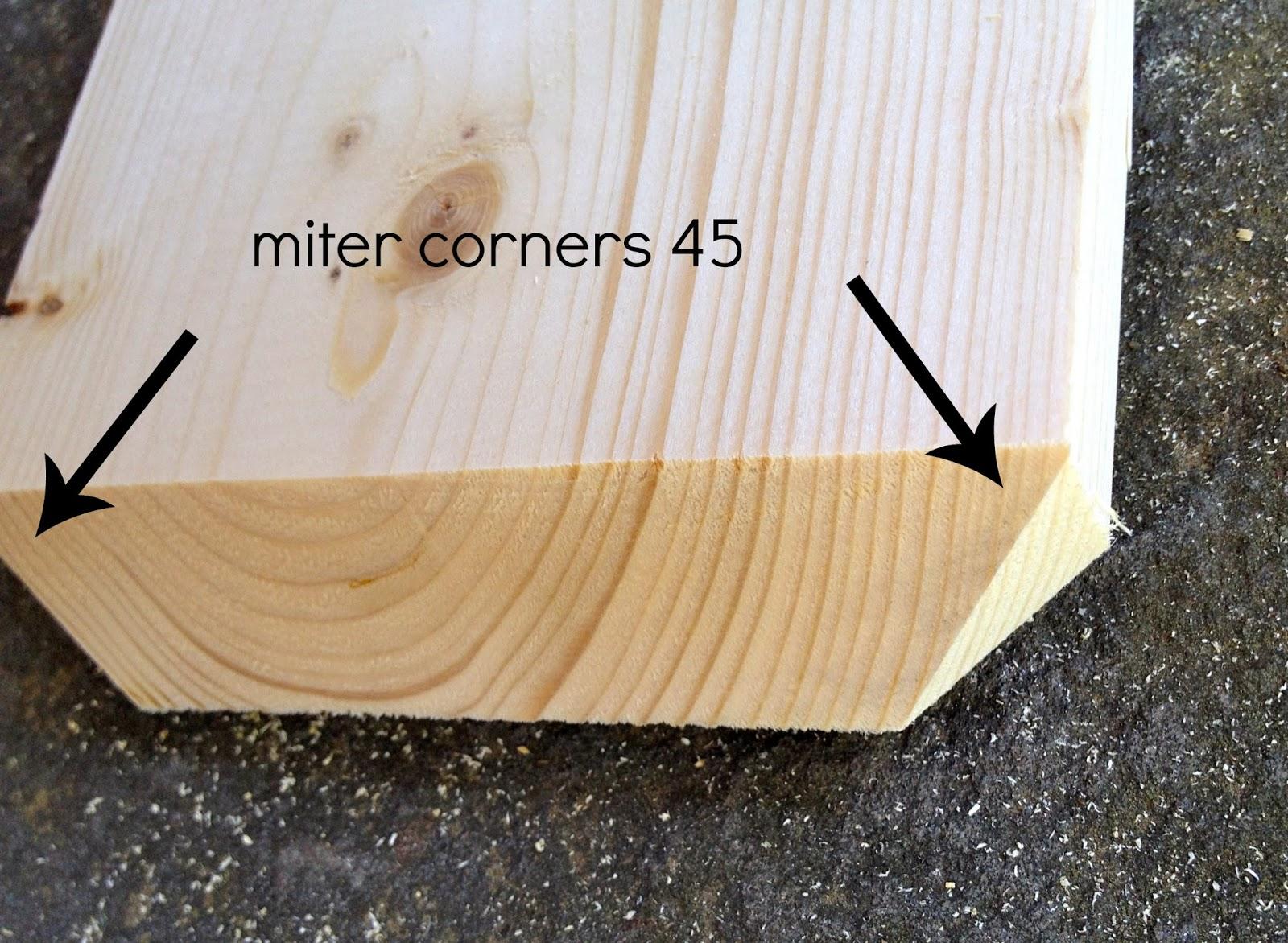 miter corners leg trim