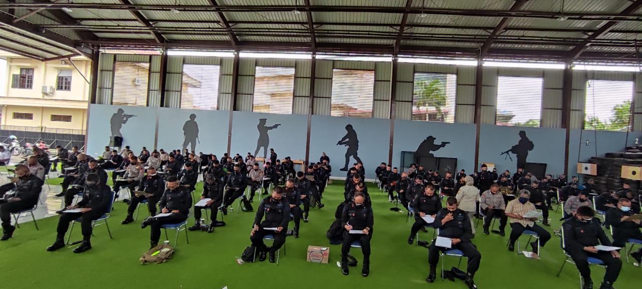 Brimob Lampung Laksanakan Tes Psikologi Pagi Personil Yang Akan Memeganga Senpi Dinas