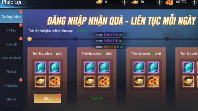 Tải game Trung Quốc hay Kiếm Hiệp Tình Việt hóa (Alpha Test) cực đẹp quà cực khủng
