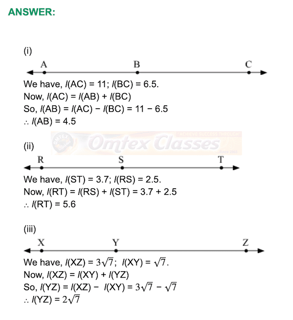 Chapter 1 - Basic Concepts In Geometry Mathematics Part II Solutions for Class 9 Math Practice Set 1.1