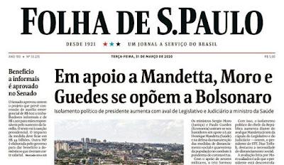 Manchete Folha Moro