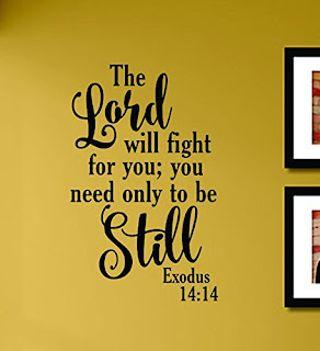 The Lord is with you.  You need only to be still.  Exodus 14:14